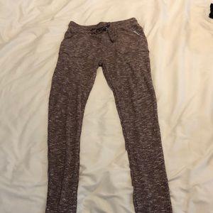 Gymshark slounge leggings in berry marl